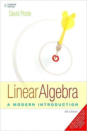 Linear Algebra A Modern Introduction David Poole Pdf