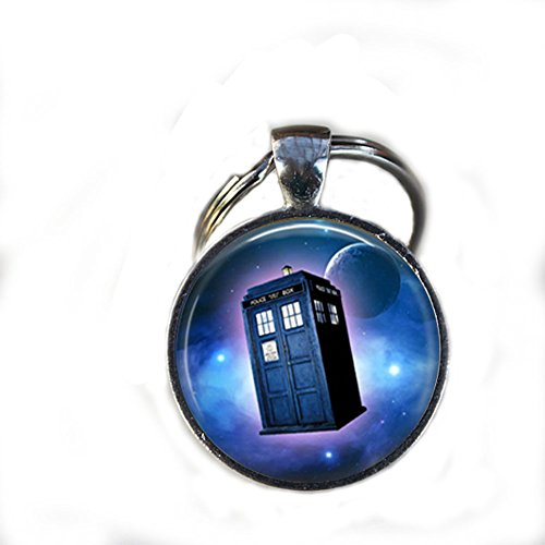 Charm Doctor Who Tardis Space Keychain,gorgeous Keychain, Mimi Keychain, Doctor Who Moon Space Everyday Gift Key Chain, Unique Key Ring Customized Gift