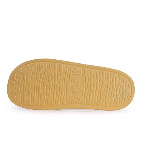 Equick Premium Femmes Et Hommes Bain Pantoufle Anti-dérapant Pour Intérieur Maison Maison Sandale 01 Jaune