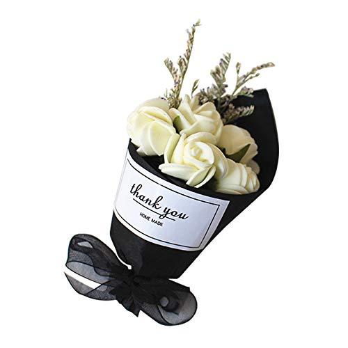 YUSHHO56T Car Perfume Clip Interior Decoration Car Clip Dry Flower Bouquet Car Air Vent Outlet Freshener Fragrance Perfume Clip Diffuser - Milky White