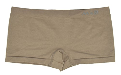 Mujer culotte sin costuras de microfibra stretch ropa interior estilo braguita shorts hipster lote 3 verde/turquesa/camello