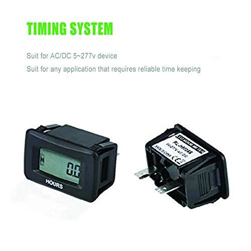 Jayron JR-HM055AD 5V to 277V LCD digital contador de horas para ...