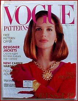 Vogue Patterns July/August 1991 Calvin Klein Donna Karan Issey Miyake