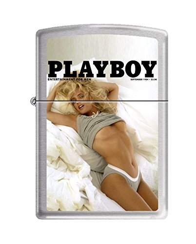 Zippo Playboy Cover September 1984 Pocket Lighter, Brushed Chrome (Dragon Ball Z Zippo)