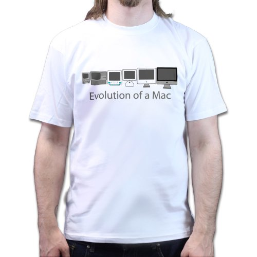 Evolution of Mac 30th Anniversary T-shirt White M