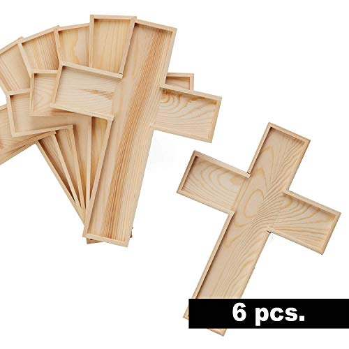 Factory Direct Craft Package of 6 Unfinished Wood Crosses for VBS, Scouts and Bible School Projects
