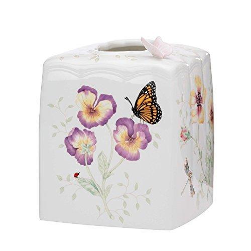 Lenox Butterfly Meadow Tissue Holder Porcelain Tissue Box
