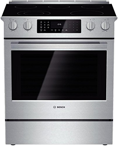 Bosch HEI8054U 800 30' Stainless Steel Electric Slide-In Smoothtop Range - Convection