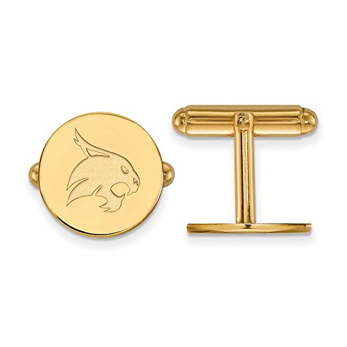 Texas State Cuff Links (14k Yellow Gold) by LogoArt