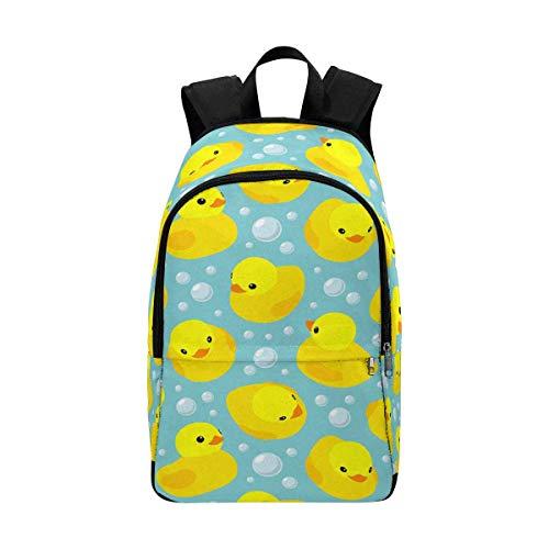 InterestPrint Yellow Rubber Ducks School Backpack BookBag