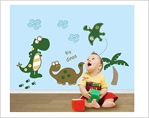 Large Dinosaur Nursery Baby Room Wall Art Vinyl Decal Stickers - Fun for Boys, Girls, Kids Room Decoration