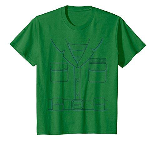 Kids Green Plastic Army Man Halloween Costume T-Shirt