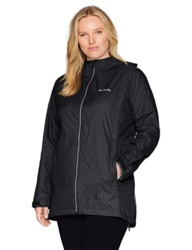 Price comparison product image Columbia Women's Plus Size Switchback Lined Long Jacket,  Black,  1X