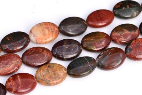 17x13mm Multicolor Picasso Jasper Flat Oval Grade Natural Loose Beads 15.5'' Crafting Key Chain Bracelet Necklace Jewelry Accessories Pendants ()