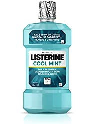 Listerine Cool Mint Antiseptic Mouthwash for Bad Breath...