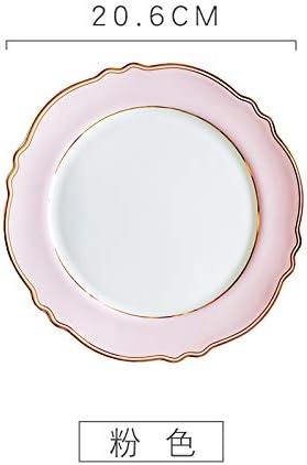 LOITEC Phnom Penh Girl Breakfast Plate Plato de Encaje Western Steak Plate Colocación Decoración Sala de Estar Cocina Colocación A: Amazon.es: Hogar