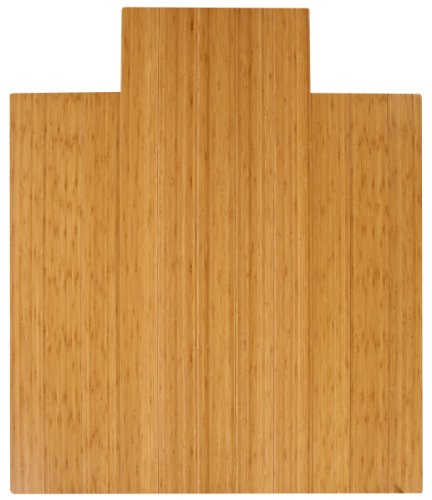 Anji Mountain AMB24005W Wood Chair Mat with Lip, Natural, 47x51, 8mm Thick ()