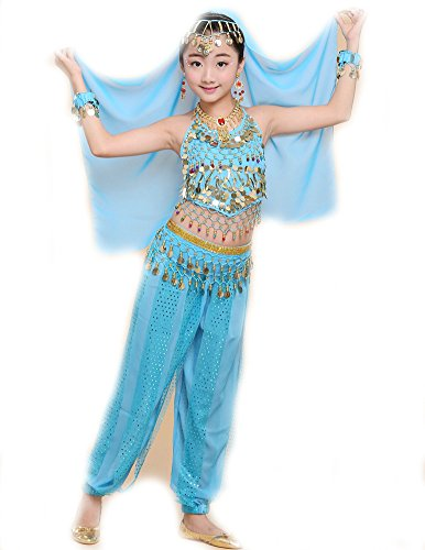 QIANDUOO 1set Girls Belly Dance Costume Child Kids Bellydancer Indian Clothing Dresses