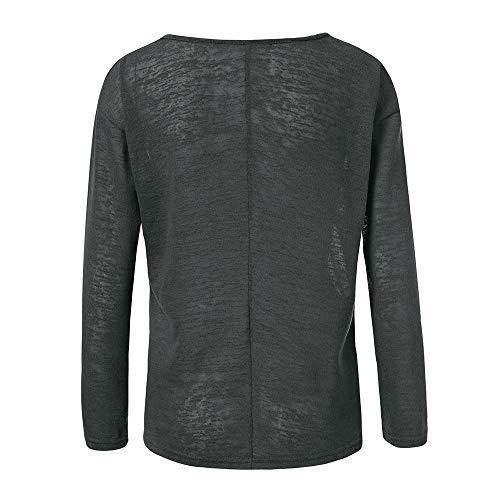 Tops Femmes 1 Vetements en OVERMAL t Gris Tous Chic Chemise Jours T Les Sexy Mode et Dcontracte Fille Shirt Automne Vrac Manches Longue Bureau Haut Blouse Iqd5d