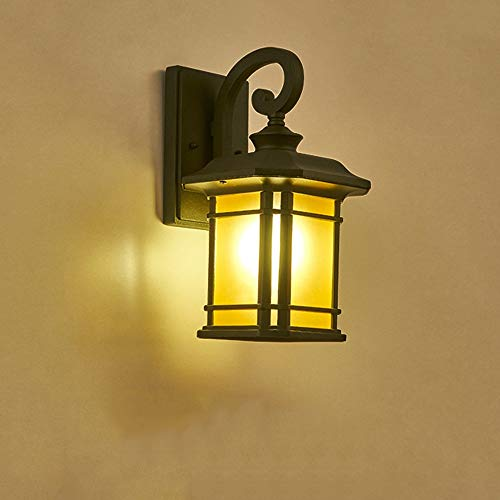 Modenny American Antique Balcony Wall Lanterns European Retro Outdoor Waterproof Wall Sconces Outdoor Courtyard Exterior Wall Lights Villa Terrace Outdoor Wall Lamps Hallway Wall ()