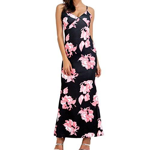 Boho Kleider für Damen Frauen Vintage Floral ALine Partykleid Sexy ...