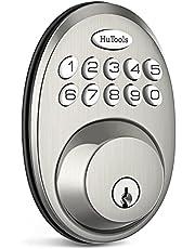 Keyless Entry Door Lock Keypad Deadbolt, HuTools Electronic Front Door Locks, 20 User Codes, Auto Lock, Low Battery Indication, Satin Nickel