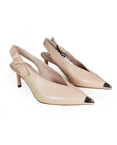 Uterque Women Slingback shoes with metal toe detail 4041/351 (38 EU | 7.5 US | 5 UK) by Uterque (Image #1)