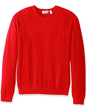 Men's 100% Cashmere Crewneck Sweater, AH1849-51, Regal Red