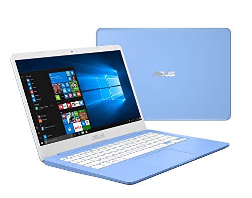 "Asus Laptop L406 Thin and Light Laptop, 14"" HD, Intel Celeron N4000 Processor, 4GB RAM, 64GB eMMC Storage, Wi-Fi 5, Windows 10, Blue, L406MA-AB02-BL, One Year of Microsoft Office 365"