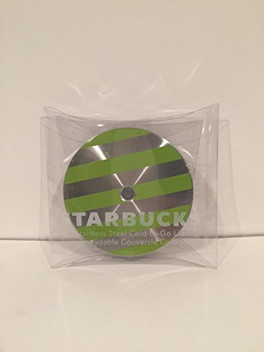 Starbucks Stainless Steel Cold-to-Go Tumbler Lid, green striped ()