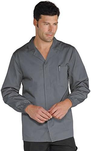 220 gr//m/² Isacco Pantalone Uomo 2 Pinces Nero Nero 40 100/% Poliestere