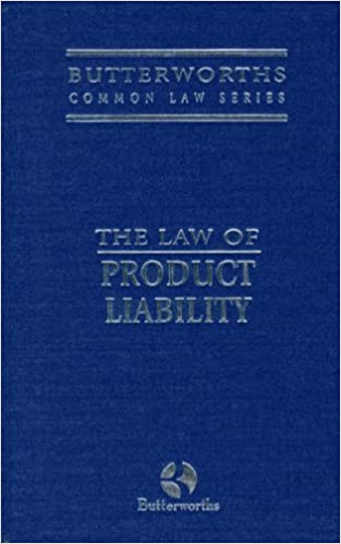 Product Liability (Butterworths Common Law Series): Amazon