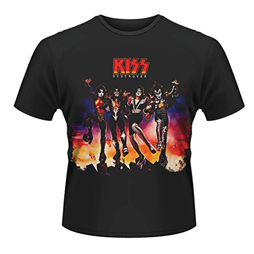 Kiss Nero Uomo Destroyer Plastic T Head shirt 1xR5RqBS