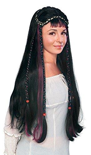 Fair Maiden Medieval Renaissance Women's Long Black Braids Costume Wig (Fair Maiden Renaissance Costume)