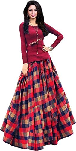 Buy Marutinandan Nx Women S Maroon Color Taffeta Silk Semi Stitched Lehenga Choli Free Size At Amazon In