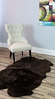 Genuine Australian Sheepskin Rug Four Pelt Fur, Quarto