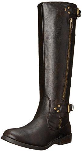 Wild Pair Women's Everson Motorcycle Boot, Dark Brown, 5.5 M US