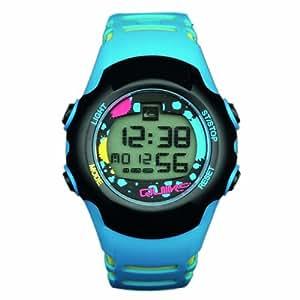 Quiksilver Y018DR 12T - Reloj digital infantil de cuarzo con correa de plástico azul (alarma, luz, cronómetro)
