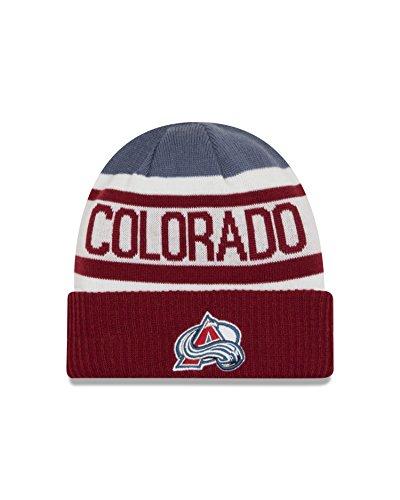 New Colorado Avalanche Nhl Cap (NHL Colorado Avalanche Biggest Fan 2.0 Cuff Knit Beanie, One Size, Purple)