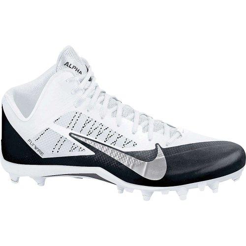 Zapatillas De Fútbol Nike Hombres Alpha Pro Mid, Blancas / Metalizadas, Gris Oscuro / Negro