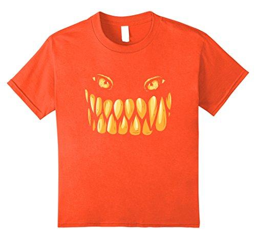 Mean Girls Costume Diy (Kids Pumpkin Monster Face Halloween Costume T-shirt 8 Orange)