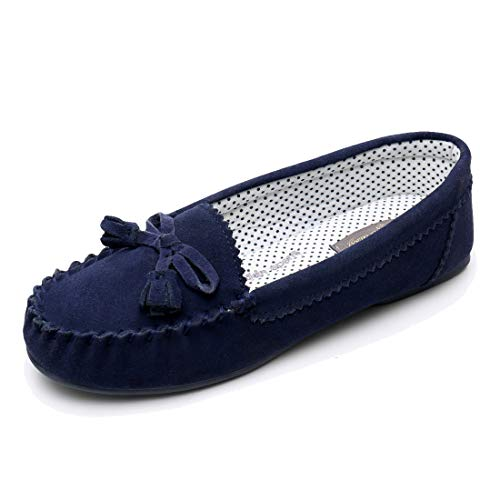 Real Fancy Moccasin Slippers for Women Flat Casual Comfortable Loafer Shoes Womens Moccasin Slippers Spring Driving Moccasins Shoes (7 B(M) US, - Shoes Fancy Flat Lady