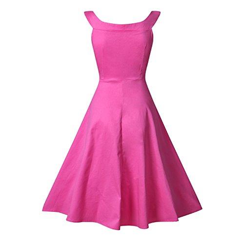 Pinkyee - Vestido - trapecio - para mujer Rosso