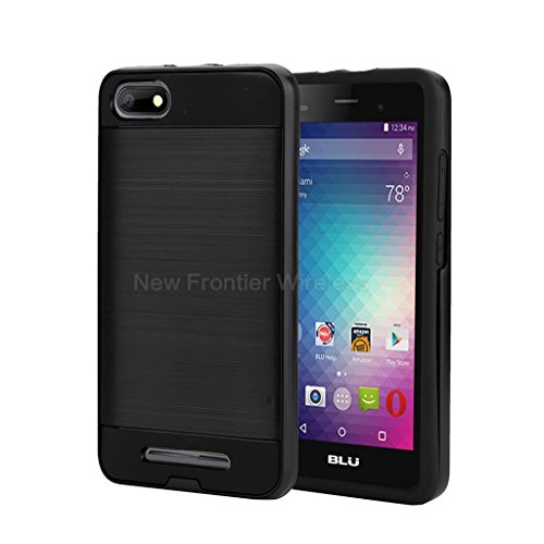 BLU Advance 5.0 HD / Dash X2 Case, {NFW} Tough Hybrid + Dual Layer Shockproof Drop Protection Case Cover for BLU Advance 5.0 HD (A050)/Dash X2(D010U)(VGC Black) (Blu Dash Advance)