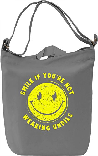 Smile If You're Not Wearing Undies Borsa Giornaliera Canvas Canvas Day Bag| 100% Premium Cotton Canvas| DTG Printing|