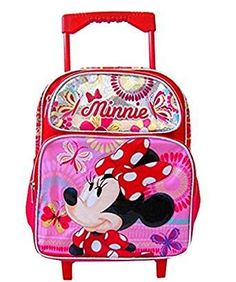 96ecec93ed Image Unavailable. Image not available for. Color  Disney Minnie Mouse  Rolling Backpack ...