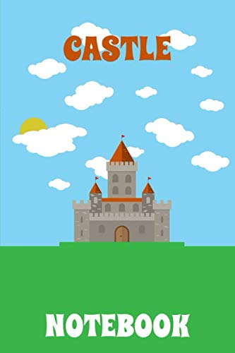 Castle Notebook - Sky - Clouds - Green - Blue - College Ruled (Knight)
