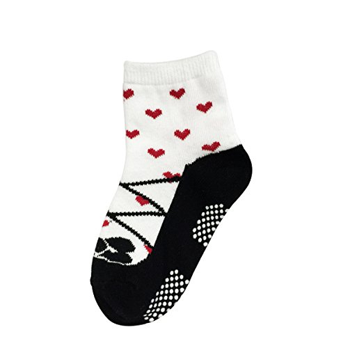 Bowbear Baby Girls 6 Pair Fruity Mary Janes Non-Slip Socks, G6PAIR01