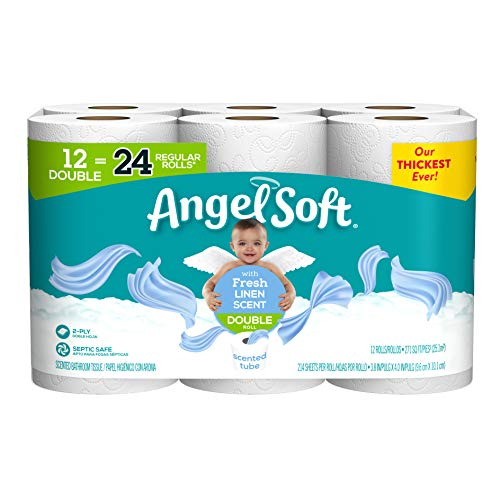 🥇 Angel Soft Toilet Paper with Fresh Linen Scented Tube