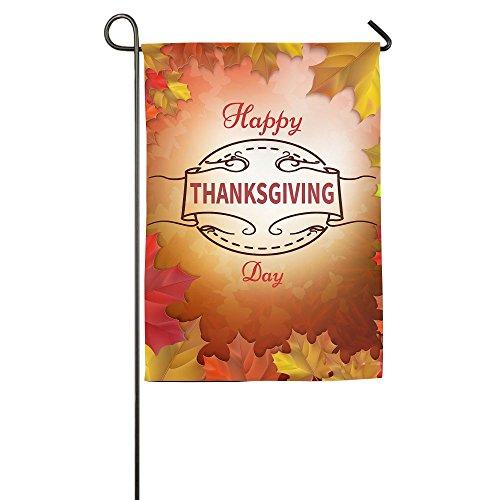 WYIZYIQA Happy Thanksgiving Day Garden Flag Yard Decorations